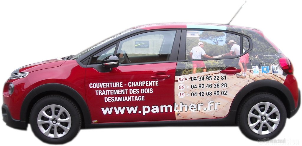 PAMTHER marquage publicitaire véhicule